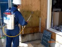 愛知県知多市N様邸、防蟻施工